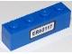 Part No: 3010pb190  Name: Brick 1 x 4 with Black 'ER60117' License Plate Pattern (Sticker) - Set 60117