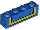 Part No: 3010pb291  Name: Brick 1 x 4 with with Black Outlined Yellow Stripe Pattern (BrickHeadz Donald Duck Torso Back)