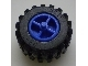 Part No: 30190c01  Name: Wheel Tricycle Center Wide with Stub Axles, with Black Tire Offset Tread Small Wide (30190 / 6015)