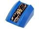 Part No: 30602pb079  Name: Slope, Curved 2 x 2 Lip with Gold Jay Symbol and Mechanical Lines Pattern (Sticker) - Set 70736