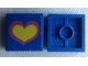 Part No: 3068apb10  Name: Tile 2 x 2 without Groove with Pink and Yellow Heart on Blue Background Pattern (Sticker) - Set 275-1