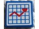 Part No: 3068bpb0117  Name: Tile 2 x 2 with Groove with Hospital Graph with Heart Pattern (Sticker) - Sets 5874 / 5875 / 5876