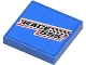 Part No: 3068bpb0445  Name: Tile 2 x 2 with Groove with 'RACE 555' and Checkered Flag Pattern (Sticker) - Set 8125