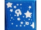 Part No: 3068bpb0590  Name: Tile 2 x 2 with Groove with Stars and 'R' Pattern on Blue Background (Sticker) - Set 7848