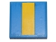 Part No: 3068bpb0684  Name: Tile 2 x 2 with Groove with Yellow Stripe Pattern (Sticker) - Set 40192