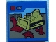 Part No: 3068bpb0938  Name: Tile 2 x 2 with Groove with Lego Bulldozer and 'CITY' Set Box Pattern - Set 60097