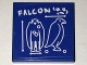 Part No: 3068bpb1024  Name: Tile 2 x 2 with Groove with Bird Blueprint and 'FALCON' Pattern (Sticker) - Set 70594