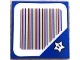 Part No: 3068bpb1384  Name: Tile 2 x 2 with Groove with Super Mario Scanner Code Star Pattern (Sticker)