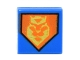 Part No: 3070bpb097  Name: Tile 1 x 1 with Groove with Yellow King Symbol on Orange Pentagonal Shield Pattern