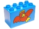 Part No: 31111pb005  Name: Duplo, Brick 2 x 4 x 2 with Big Red Bird Pattern