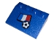Part No: 3297pb047  Name: Slope 33 3 x 4 with Flag of France and Soccer Ball Pattern (Sticker) - Set 3406