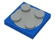 Part No: 3680c01  Name: Turntable 2 x 2 Plate with Light Gray Top (3680 / 3679)