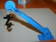 Part No: 40633c03  Name: Duplo Crane Telescoping Boom Assembly with Black Hook, White String, and Blue Winch Drum