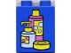 Part No: 4066pb132  Name: Duplo, Brick 1 x 2 x 2 with Shampoo and Soap Containers Pattern