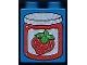 Part No: 4066pb233  Name: Duplo, Brick 1 x 2 x 2 with Strawberry Jam Jar with Lid Pattern