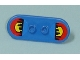 Part No: 42511pb01  Name: Minifigure, Utensil Skateboard with Trolley Wheel Holders with Sunset/City Skyline Pattern (Stickers) - Set 7641