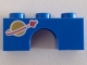 Part No: 4490pb02  Name: Arch 1 x 3 with Classic Space Logo Pattern (Astro Kitty)