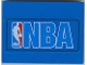 Part No: 4515pb008  Name: Slope 10 6 x 8 with NBA Blue Pattern (Sticker) - Set 3432