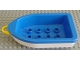 Part No: 4677c01  Name: Duplo Boat with Tow Loop Yellow, White Bottom and 2 x 4 Studs Inside
