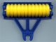 Part No: 4828c01  Name: Duplo Farm Plow Type 1, Roller Holder with Yellow Duplo Farm Plow Type 1, Roller Attachment, Disk (4828 / x1526)