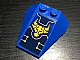 Part No: 48933pb026  Name: Wedge 4 x 4 Triple with Stud Notches with Yellow Nexo Knights Bull Head and Circuitry Pattern (Sticker) - Set 70322