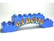 Part No: 51704pb06  Name: Duplo, Brick 2 x 10 x 2 Arch with 'CIRCUS' Red and Yellow Pattern
