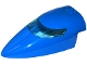 Part No: 54092c02  Name: Aircraft Fuselage Forward Top Curved 8 x 16 x 5 with Trans-Light Blue Glass