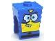 Part No: 54872pb09  Name: Minifigure, Head, Modified SpongeBob SquarePants with Super Hero Pattern