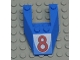 Part No: 6153apb03  Name: Wedge 6 x 4 Cutout without Stud Notches with Red Number 8 Pattern