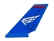 Part No: 6239pb076L  Name: Tail Shuttle with White Wing on Blue Background Pattern Model Left Side (Sticker) - Set 76076