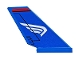 Part No: 6239pb076R  Name: Tail Shuttle with White Wing on Blue Background Pattern Model Right Side (Sticker) - Set 76076