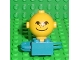 Part No: 685px3c01  Name: Homemaker Figure Torso Assembly and Yellow Head with Eyes, Freckles and Smile Pattern