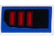 Part No: 85984pb120L  Name: Slope 30 1 x 2 x 2/3 with Ford Mustang Taillight Pattern Model Left Side (Sticker) - Set 75871