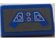 Part No: 85984pb161  Name: Slope 30 1 x 2 x 2/3 with Blue SW Control Panel on Dark Bluish Gray Background Pattern (Sticker) - Set 9525