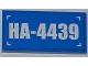 Part No: 87079pb0086  Name: Tile 2 x 4 with 'HA-4439' Pattern (Sticker) - Set 4439