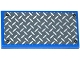 Part No: 87079pb0240  Name: Tile 2 x 4 with Silver and Dark Bluish Gray Tread Plate and 4 Rivets Pattern (Sticker) - Set 75918