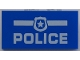 Part No: 87079pb0485  Name: Tile 2 x 4 with White 'POLICE' and Badge Pattern
