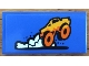 Part No: 87079pb0767  Name: Tile 2 x 4 with Orange Monster Truck and White Dust Pattern (Sticker) - Set 60180