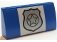 Part No: 88930pb078  Name: Slope, Curved 2 x 4 x 2/3 with Bottom Tubes with Police Badge Pattern (Sticker) - Set 60045
