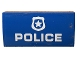 Part No: 88930pb128  Name: Slope, Curved 2 x 4 x 2/3 with Bottom Tubes with White 'POLICE' and Badge Pattern (Sticker) - Set 60172