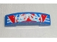 Part No: 93273pb034  Name: Slope, Curved 4 x 1 Double with Red Star Upper Half Pattern (Sticker) - Set 9094