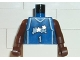 Part No: 973bpb145c01  Name: Torso NBA Orlando Magic #1 (Blue Jersey) Pattern / Brown NBA Arms