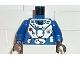Part No: 973pb0047c01  Name: Torso Aquazone Hydronaut Silver Diving Pattern 1 / Blue Arms / Black Hands