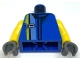 Part No: 973pb0072c01  Name: Torso Racers Number 18 and Yellow Stripe Pattern / Yellow Arms / Dark Gray Hands