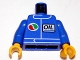 Part No: 973pb0106bc01  Name: Torso Octan Logo and OIL Pattern, Logo Color Reversed / Blue Arms / Yellow Hands