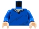 Part No: 973pb0318c01  Name: Torso Speed Racer Pullover Open Collar, Diagonal Wrinkles Pattern / Blue Arms / Light Nougat Hands