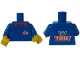 Part No: 973pb0497c01  Name: Torso Tine Logo Pattern (Stickers) / Blue Arms / Yellow Hands