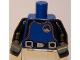 Part No: 973pb0671c01  Name: Torso City Diver, Black Wetsuit with Orange Stitching and Weight Belt Pattern / Black Arms / Dark Bluish Gray Hands