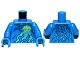 Part No: 973pb1253c01  Name: Torso Ninjago Lightning Energy Pattern (NRG Jay) / Blue Arms / Blue Hands