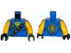 Lot ID: 204473758  Part No: 973pb1907c01  Name: Torso Ninjago Robe with Gold Asian Characters on Black Sash and Jay Power Emblem Pattern / Yellow Arms / Black Hands
